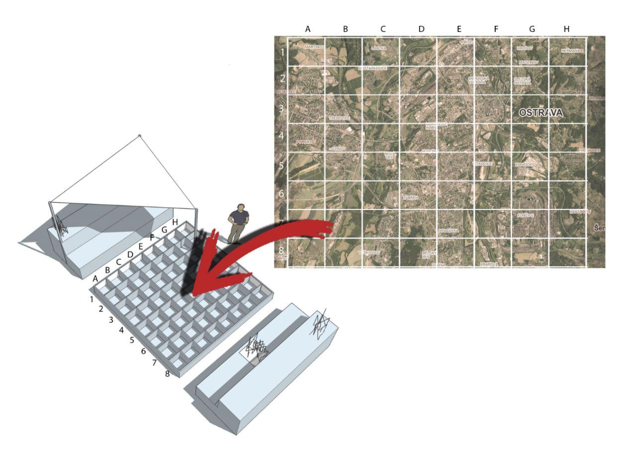 Mapa a záhon