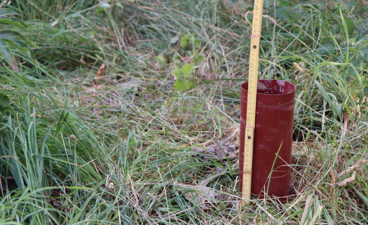 Hydrogeologický průzkum dešťová zahrada